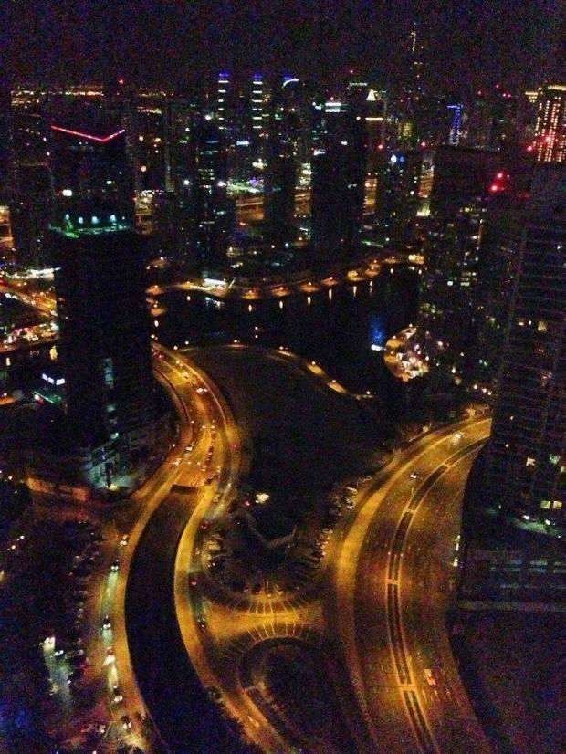 Spectacular view of Dubai  Marina